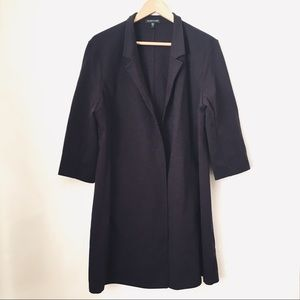 Eileen Fisher Dark Purple Short Sleeve Cardigan